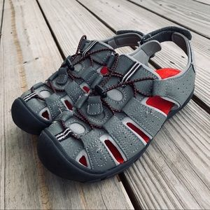 Cat & Jack Red/Gray Sandals